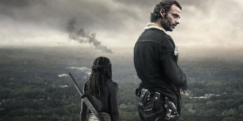 Walking Dead season 6B Rick and Michonne banner