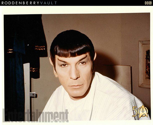 nimoy in the makeup chair