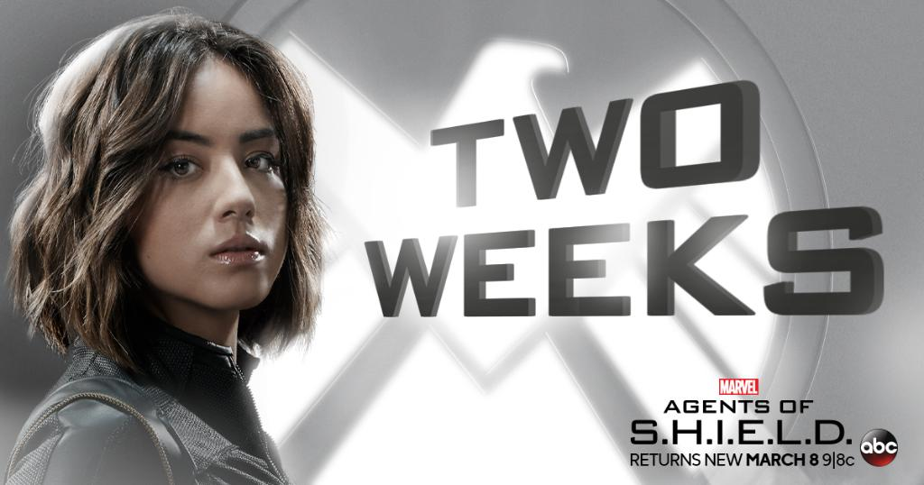 Agents of SHIELD 2 weeks banner