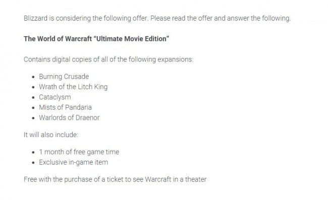 Blizzard-World-of-Warcraft-Ultimate-Movie-Edition-Survey