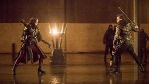 arrow nyssa and merlyn face off