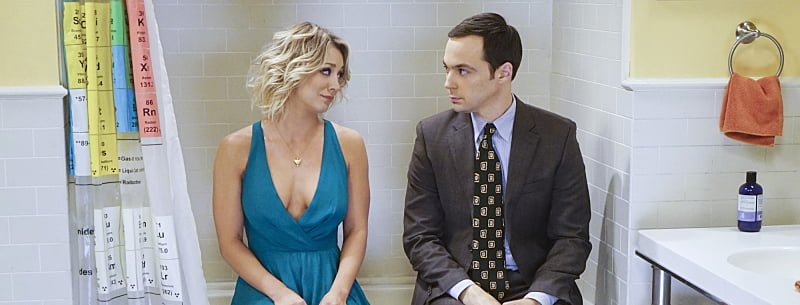 bbt sheldon and penny in bathroom