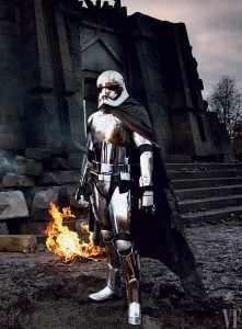 force awakens captain phasma on set