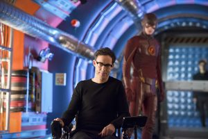 Barry and the old Wells--Eobard Thawne--meet again...for the first time.