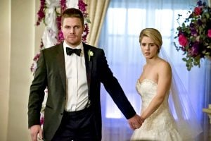 arrow - olive and felicity fake wedding