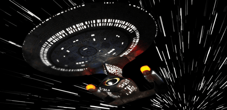 star trek enterprise warp speed