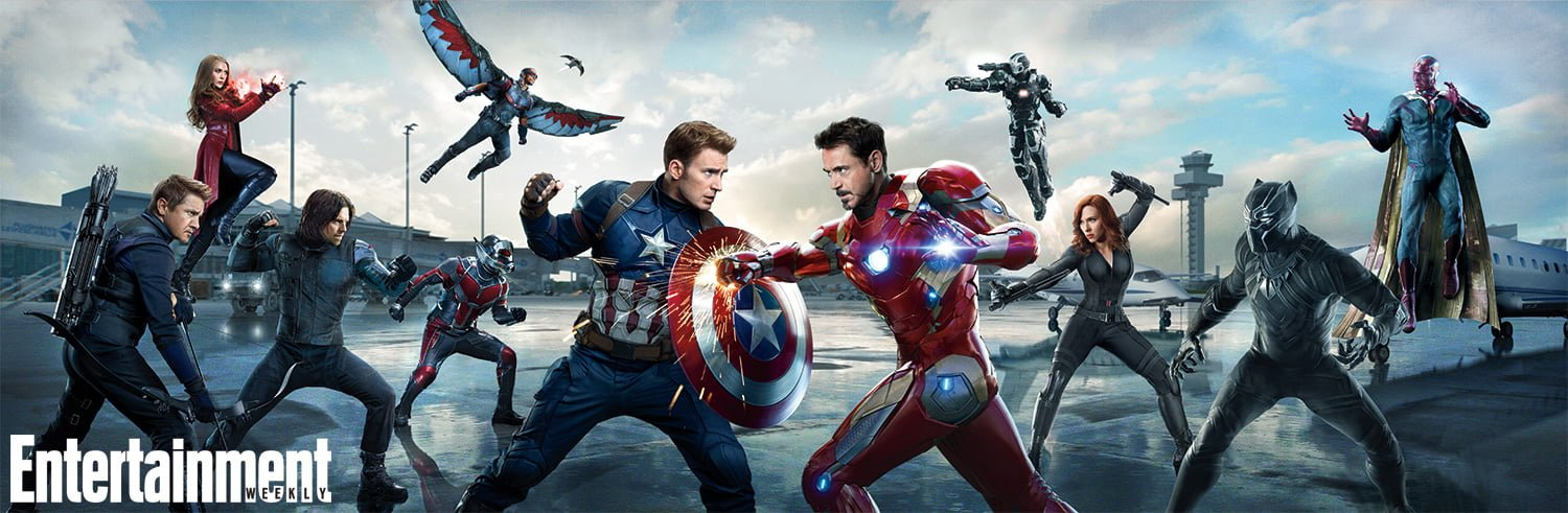 Captain America Civil War face off banner