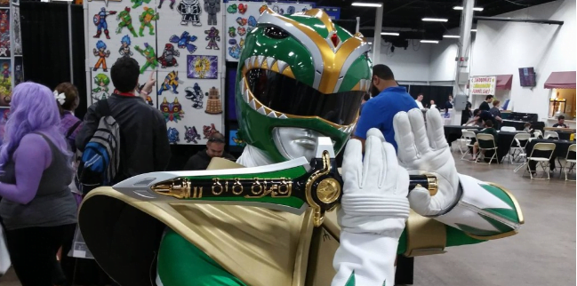 Green Power Ranger Great Philadelphia Comic-Con 2016