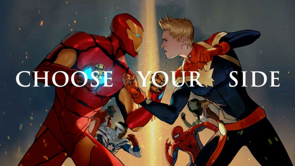 Marvel Comics Civil War II banner