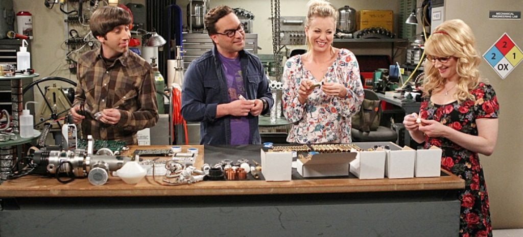 bbt gang works at lab the big bang theory