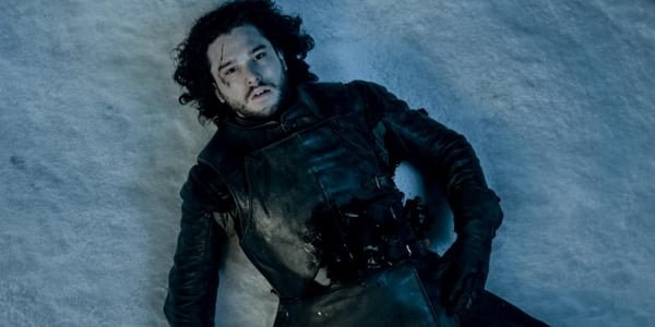 jon snow dead on the ground