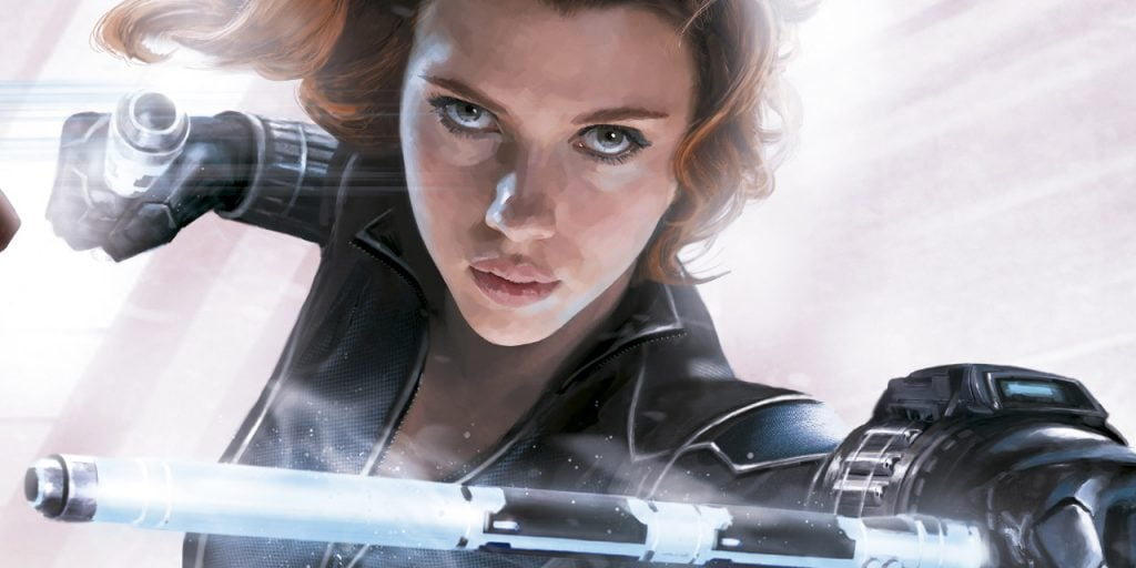 Captain America Civil War black widow promo art