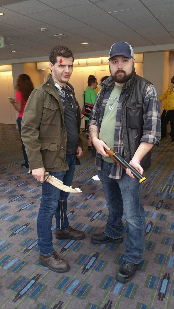 Dean Winchester and Bobby Singer