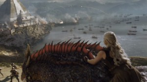 got dany rides her dragon