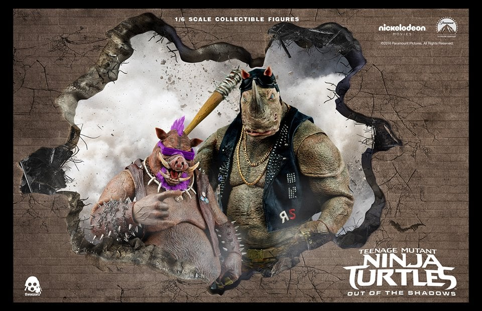 tmnt threezero beebop rocksteady