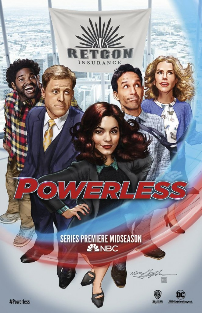 Powerless SDCC poster