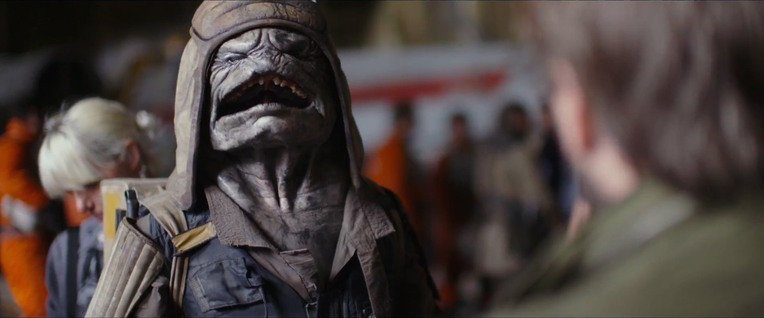 Star Wars Rogue One big mouth