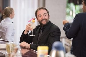 Crowley's self-satisfied smirk, not even a Rowena could love.