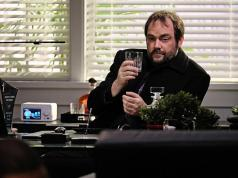 Crowley: one half of the new 'Laurel &Hardy' with Castiel.