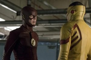 Barry has Wally take down Plunder, changing the first variable in the future Moment.