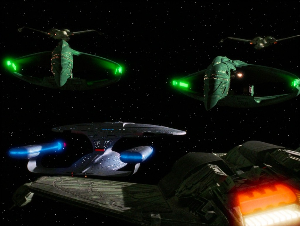 star trek federation romulan klingon stand off