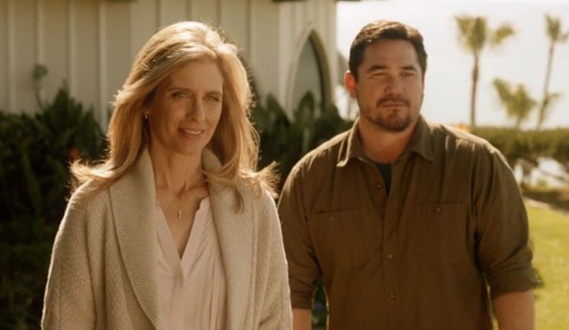 Dean Cain as Jeremiah Danvers on 'Supergirl' with Helen Slater as Eliza.