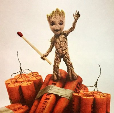 Guardians of the Galaxy Vol 2 Groot dynamite