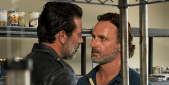 Rick and Negan The Walking Dead