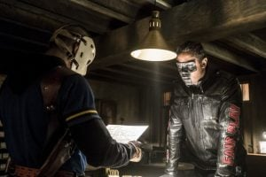 arrow mr terrific and wilddog find blueprints