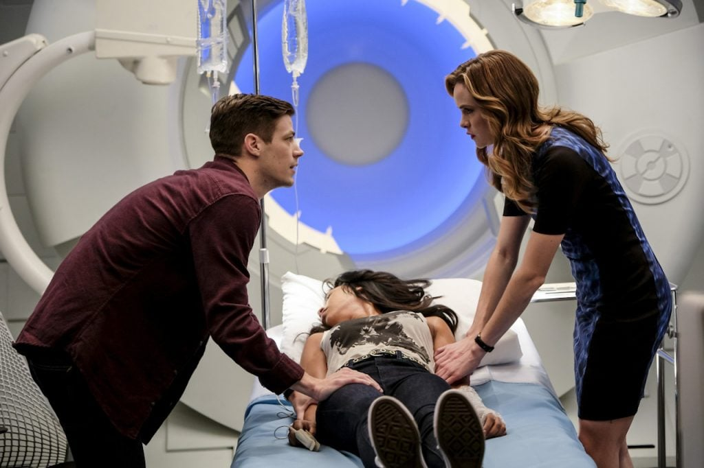Despite her fears of unleashing the Killer inside, Caitlin uses her powers to save Iris.