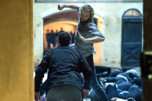 iron fist danny punching in the air