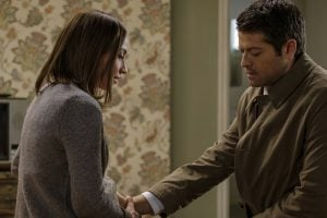 It's here that Kelly realizes Castiel's purpose in her life and Baby Nephilim's.