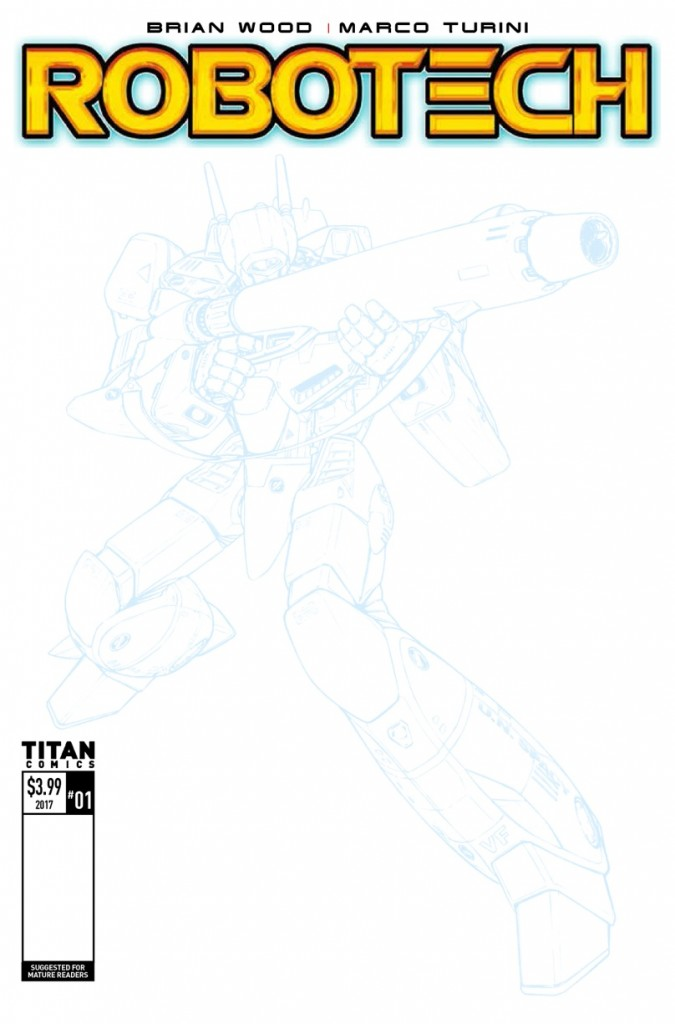 Robotech Issue 1 Cover F Sketch
