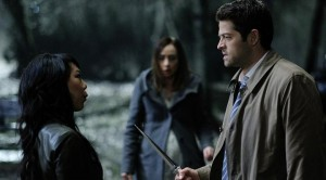 Castiel and Kelly, moments before standing together to face their end...only for Baby Nephilim to help save the day.