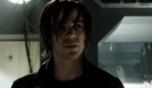 The Future Barry Allen channeling his own version of emo Peter Parker.