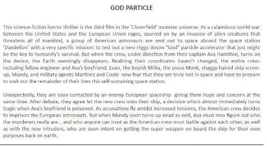 Gof Particle synopsis