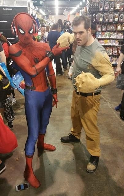 spiderman and sandman