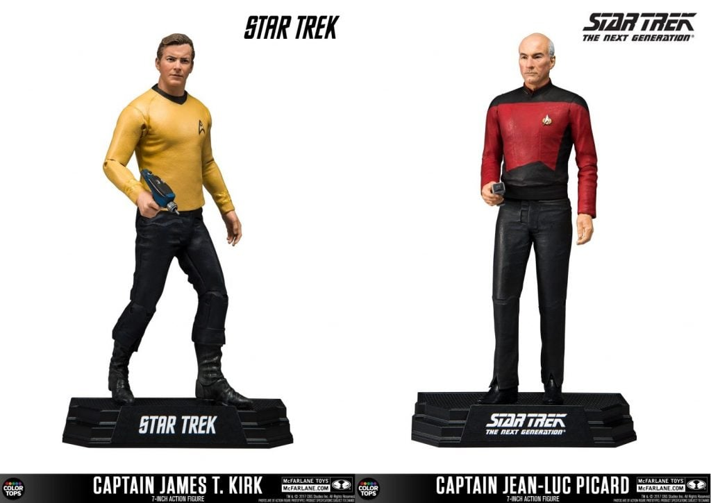 star trek captains figures