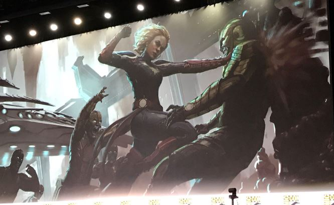 Captain Marvel vs Skrull concept art