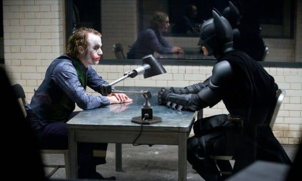 The Dark Knight Heath Ledger Joker Batman Christian Bale