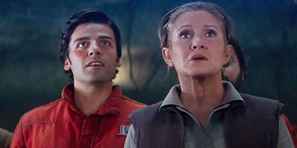 oscar isaac carrie fisher star was the last jedi