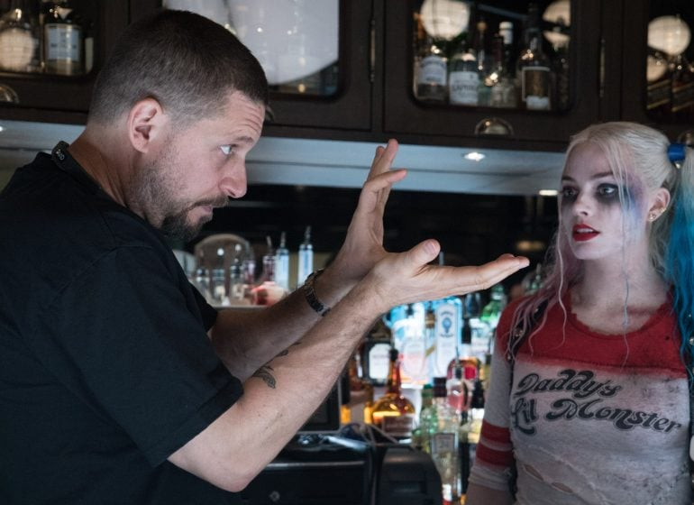 david ayer with margot robbie