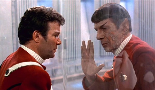 wrath of khan leonard nimoy william shatner kirk spock