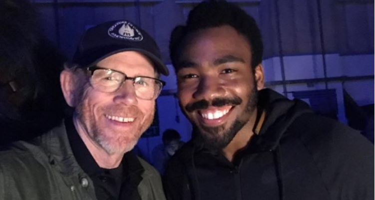 donald glover ron howard solo a star wars story