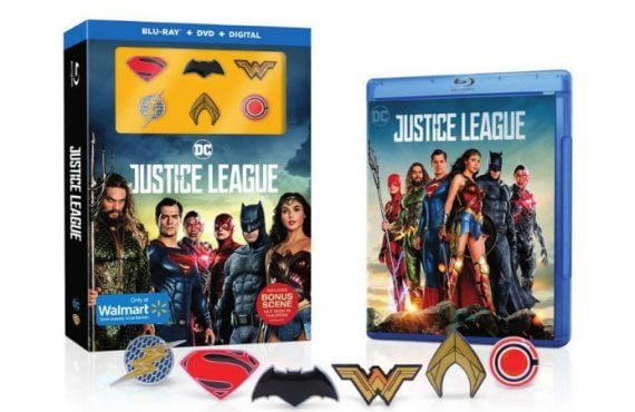 justice league blu ray walmart