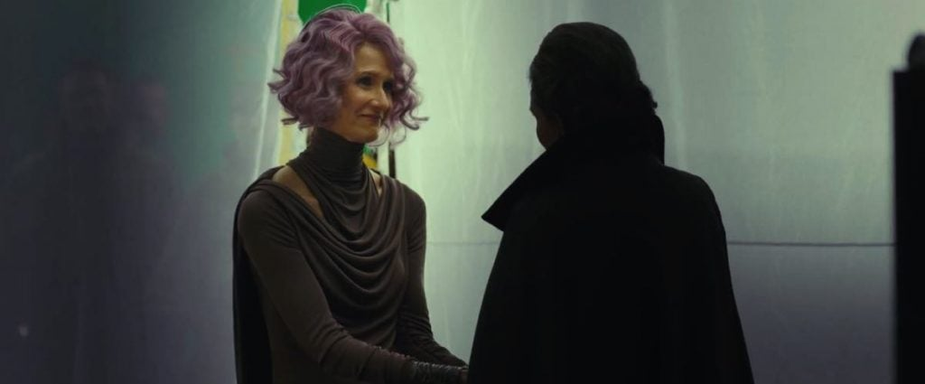 Carrie Fisher And Laura Dern Re-Wrote Their Touching Goodbye In 'Star Wars: The Last Jedi'