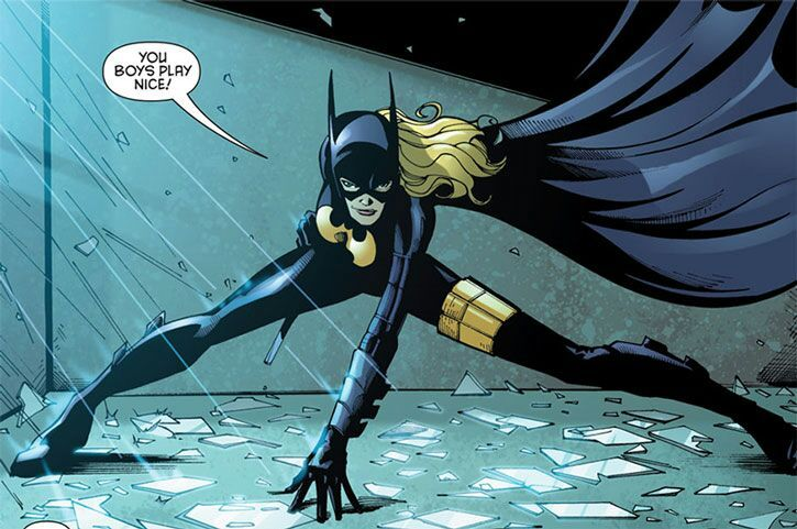 Batgirl comic panel