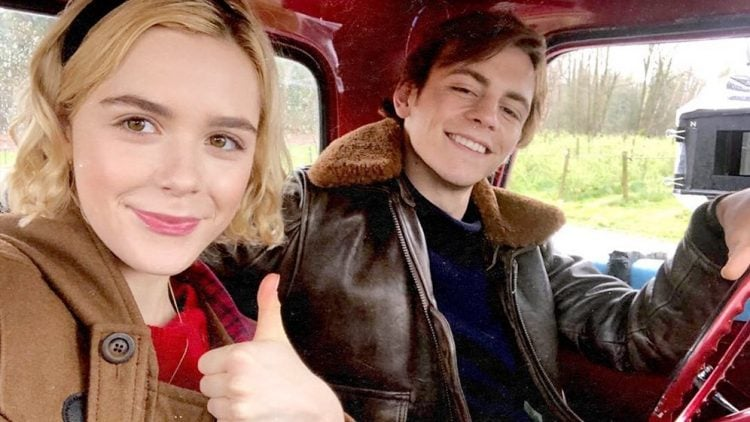 Get A New Look At Kiernan Shipka And Ross Lynch From Chilling Adventures Of Sabrina