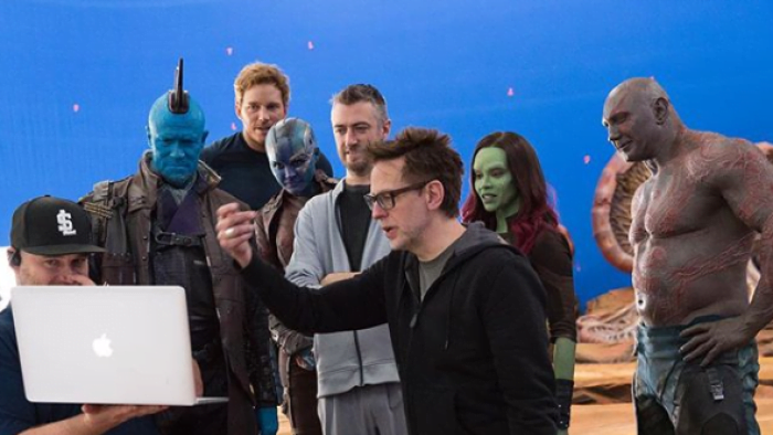 James Gunn and the Guardians Of The Galaxy cast