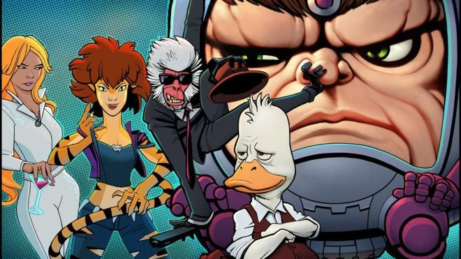 Marvel Hulu Howard The Duck, Dazzler, MODOK,
